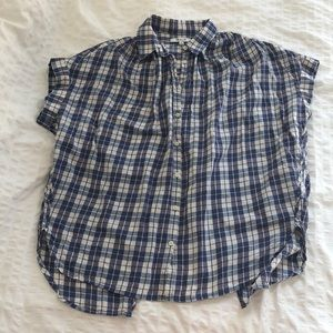 Madewell button Courier style shirt w/ open back